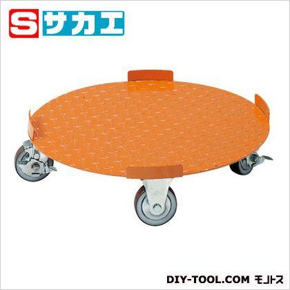 サカエ 円形ドラム台車(フラットタイプ) オレンジ DR5