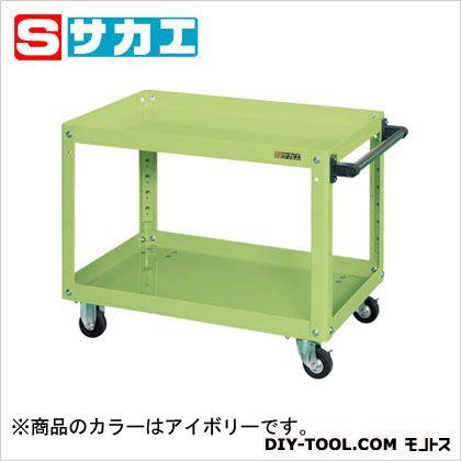 サカエ スーパーワゴン(ゴム車) アイボリー EKR206I