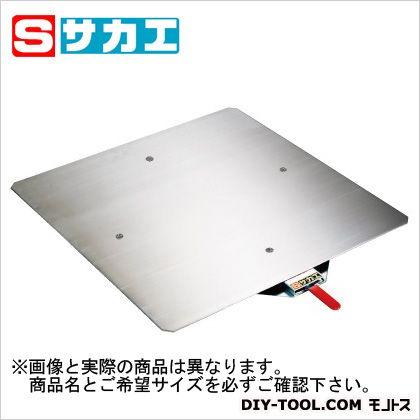 サカエ クルクル回転盤 ステンレス天板 500×609×23.5mm KS50SUST ハンドストッパー付 売り込み 安心の定価販売