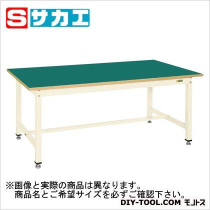 サカエ 中量作業台KTタイプ カラー:アイボリー 天板カラー:グリーン KT393FIG