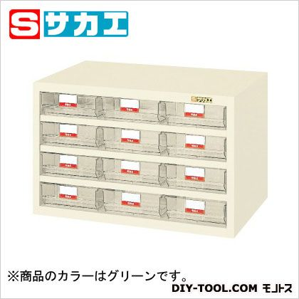 サカエ ハニーケース・樹脂ボックス グリーン HFS12TL