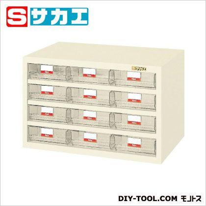 サカエ ハニーケース・樹脂ボックス アイボリー HFS12TLI