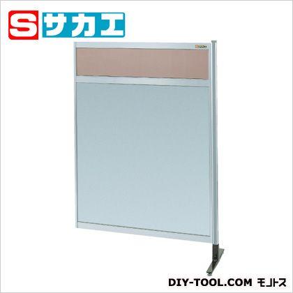 サカエ パーティション 透明カラー塩ビ(上) アルミ板(下)タイプ(連結) (NAK34NR)