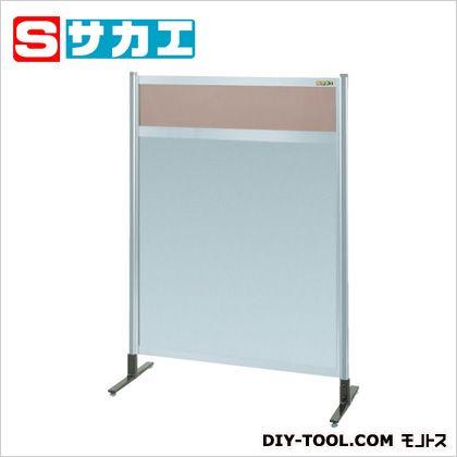 サカエ パーティション(固定式・上透明カラー塩ビ・下アルミ・単体) NAK34NT
