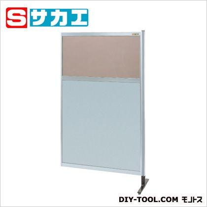 サカエ パーティション 透明カラー塩ビ(上) アルミ板(下)タイプ(連結) (NAK35NR)