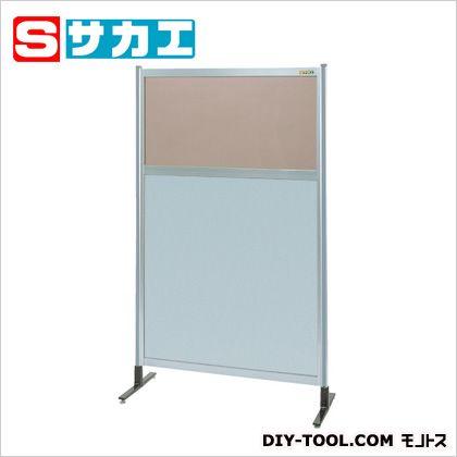 サカエ パーティション 透明カラー塩ビ(上) アルミ板(下)タイプ(単体) (NAK35NT)