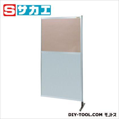 サカエ パーティション 透明カラー塩ビ(上) アルミ板(下)タイプ(連結) (NAK36NR)