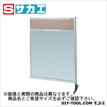 サカエ パーティション 透明カラー塩ビ(上) アルミ板(下)タイプ(連結) (NAK44NR)