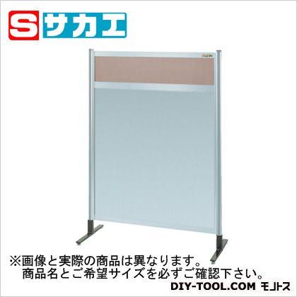 サカエ パーティション 透明カラー塩ビ(上) アルミ板(下)タイプ(単体) (NAK44NT)