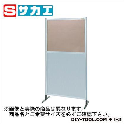 サカエ パーティション 透明カラー塩ビ(上) アルミ板(下)タイプ(単体) (NAK46NT)