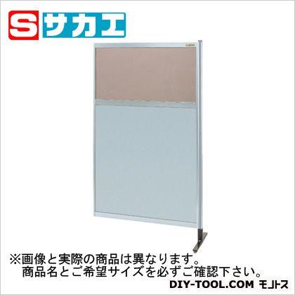 サカエ パーティション 透明カラー塩ビ(上) アルミ板(下)タイプ(連結) (NAK55NR)