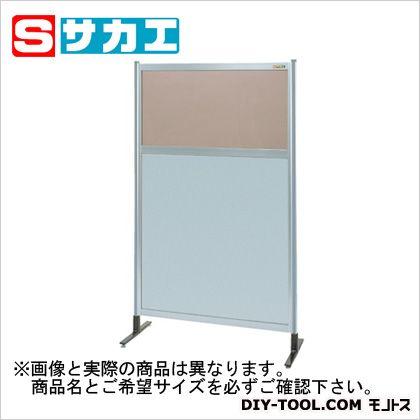 サカエ パーティション 透明カラー塩ビ(上) アルミ板(下)タイプ(単体) (NAK55NT)