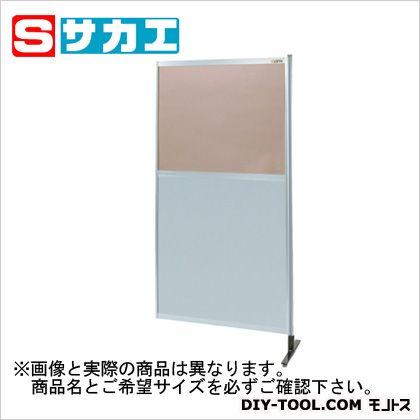 サカエ パーティション 透明カラー塩ビ(上) アルミ板(下)タイプ(連結) (NAK56NR)