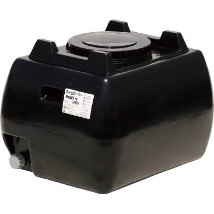 ※法人専用品※スイコー ホームローリータンク200 黒 800×640×580mm HLT200BK 1台