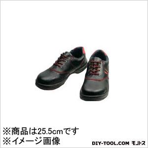 シモン 安全靴 短靴 黒/赤 25.5cm SL11R25.5