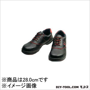シモン 安全靴 短靴 黒/赤 28.0cm (SL11R28.0)