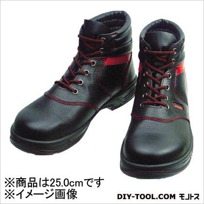 シモン 安全靴 編上靴 黒/赤 25.0cm (SL22R25.0)