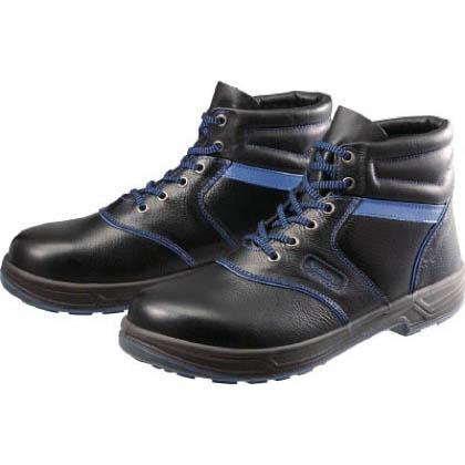 シモン 安全靴 編上靴 SL22-BL 黒/ブルー 26.0cm SL22BL26.0 1 足