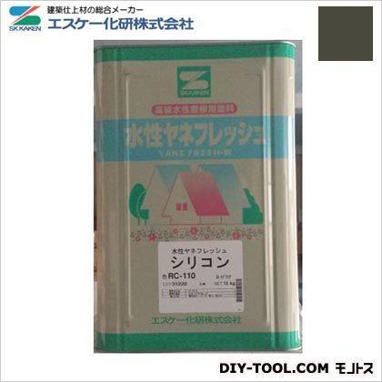 エスケー化研 水性ヤネフレッシュシリコン(艶有り) 高耐久性屋根用塗料 ダークグリーン RC-109