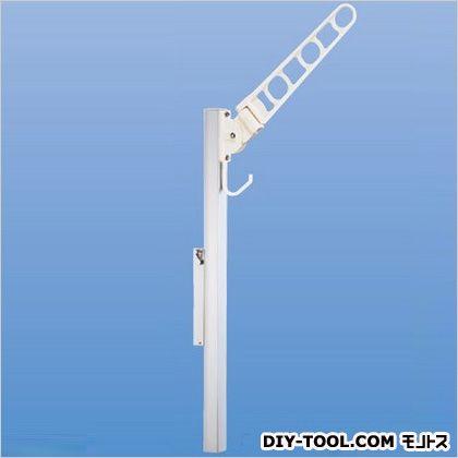 神栄ホームクリエイト バルコニー物干金物(横収納・スライド型) ホワイトクリーム SK-500YSLP-WC 1 本