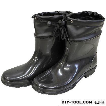 シンセイ PVCショートカバー付長靴 お得セット ブラック 日本正規代理店品 SS-0150 26.0cm
