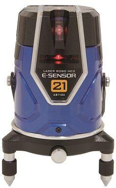 シンワ測定 シンワレーザーロボNeo_E_Sensor21縦・横・地墨 ブルー 71502