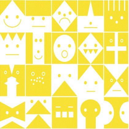 Scandinavian Pattern Collection フリース壁紙 Graphic Conversation 黄 巾46cm×10M SPC-620