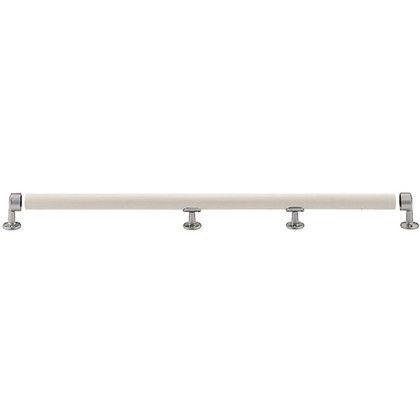 シロクマ マガリン棒(1箇所曲リ) アイボリ/シルバー 600×400 (BR-300) 1組