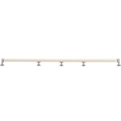 シロクマ マガリン棒(2箇所曲リ) アイボリ/シルバー 600×300×600 (BR-301) 1組