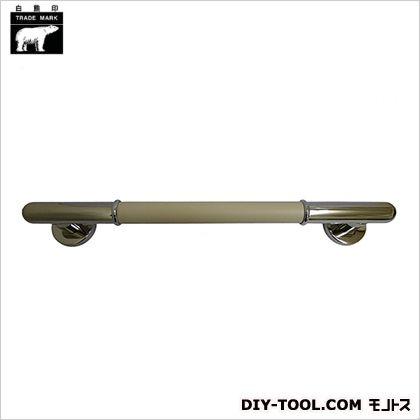 シロクマ 丸棒ニギリバー 鏡面/アイボリ 600mm NO-701