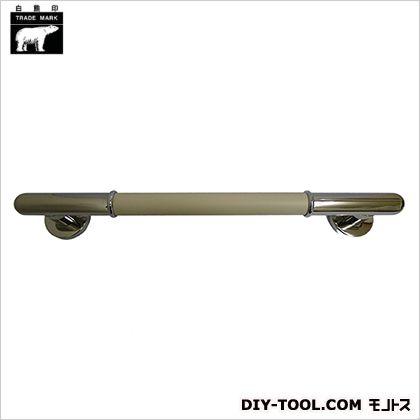シロクマ 丸棒ニギリバー 鏡面/アイボリ 450mm NO-701