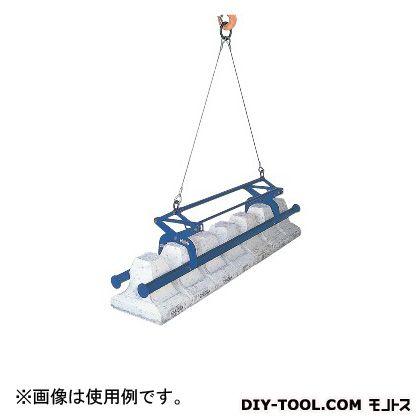 スーパーツール 間知ブロックマトメ吊ワイヤーロープ・リング付 KBC500WH