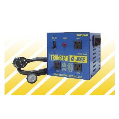 スズキッド ポータブル変圧器(昇圧機能付き)トランスターQ-BEE(トランスターキュービー) 青 STX-3QB