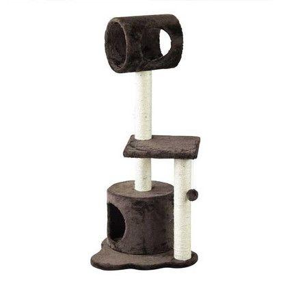 スパイス PAW-PAW キャットツリー ブラウン 約幅44×奥行40×高さ102.5cm HMLY4080BR