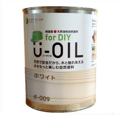 シオン U-OIL for DIY 天然油性国産塗料 ホワイト 3.8L d-009-5