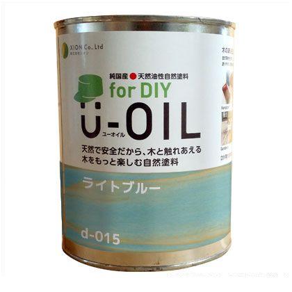 シオン U-OIL for DIY 天然油性国産塗料 ライトブルー 3.8L d-015-5