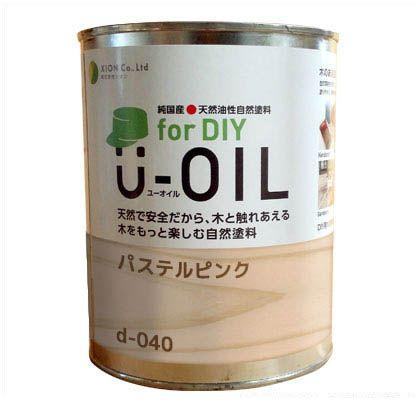 シオン U-OIL for DIY 天然油性国産塗料 パステルピンク 3.8L d-040-5