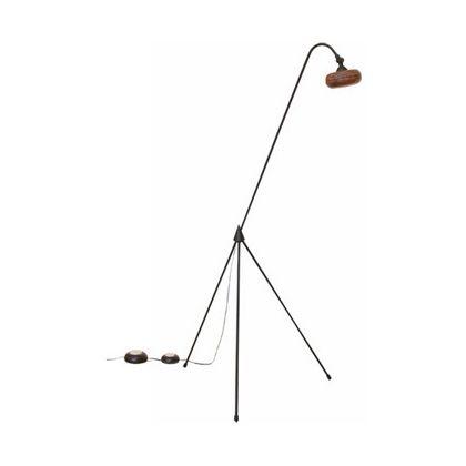 スワン電器 ウッドフロアランプ 本体:ブラック×ブラウン /シェード:ブラウン木製 幅401mm×奥行き510mm×高さ1,240mm AFL-050BR