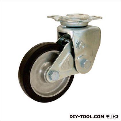シシク 緩衝キャスター 固定 200径 ゴム車輪 (×1個)  SAKTO200TRAW