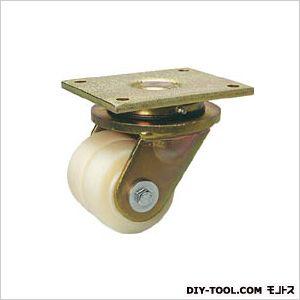 シシク 低床重荷重用双輪キャスター 自在 100径 (×1個)  LSDGSPO100K