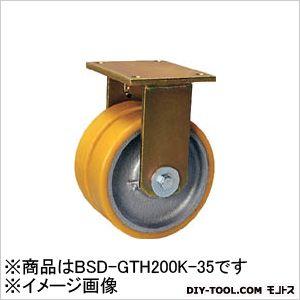 シシク 重荷重用キャスター 固定 200径 ウレタン車輪 (×1個)  BSDGTH200K35