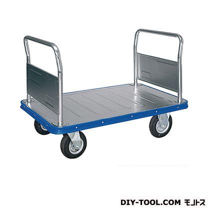 シシク 運搬台車 (スチール製ビッグボディ、ハンドル両袖固定) 荷台サイズ:750×1200mm VC