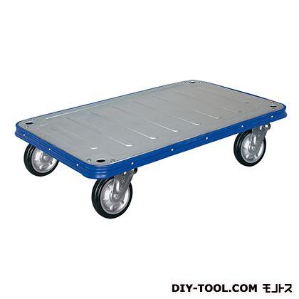 シシク 運搬台車 (スチール製ビッグボディ、ハンドルなし、空気入車輪付) 荷台サイズ:750×1200mm VR-AI