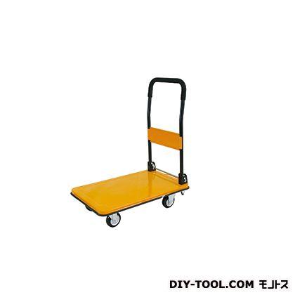 シシク 運搬台車 ネイビー (スチール製鋼板補強ボディ、ハンドル折りたたみ カラーシリーズ CRAYON) 荷台サイズ:440×700mm DSA-C (BNV)