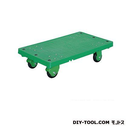 シシク 運搬台車 (プラスチック製、ハンドルなし、プラスチックキャスター付) 荷台サイズ:460×750mm SR-SSGP
