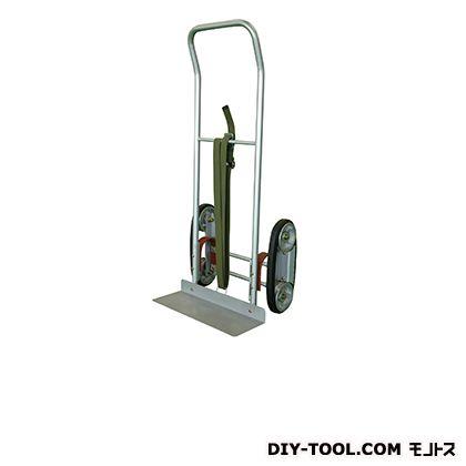 シシク 2輪運搬台車 (スチール製、ゴムローラー式階段昇降タイプ) 荷台サイズ:520×180mm HT-CU-1