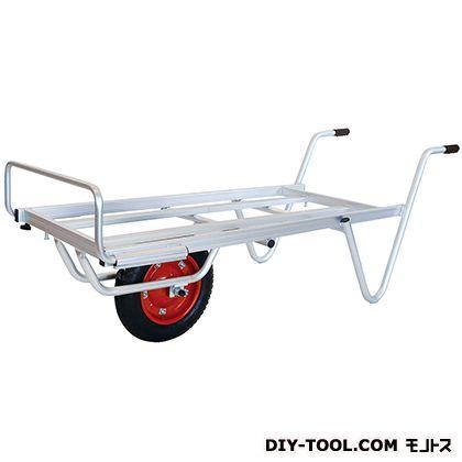 シシク 農業・園芸用運搬台車 一輪Mタイプ (アルミロング台車) 荷台サイズ:530×1110mm TC-1012