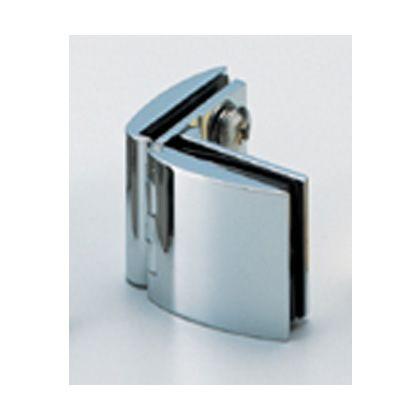 スガツネ(LAMP) ガラス丁番 GH-450G型 ガラス側板用(90°タイプ)、インセット扉用 (GH-450G-CR)