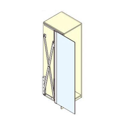 スガツネ(LAMP) コンセプタ25 ガラス扉用 扉高さ1250~1850mm 部品セット  22311