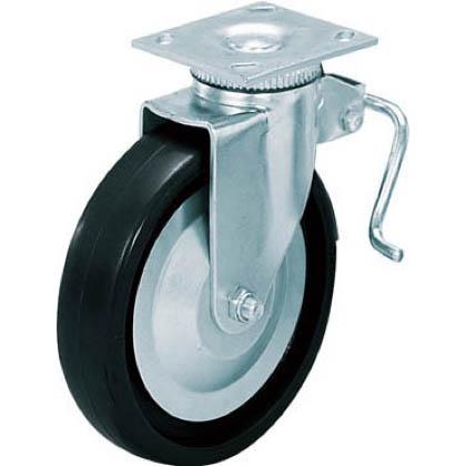 スガツネ(LAMP) 重量用キャスター径203自在ストッパー付クロロプレンゴム車  31408BPD